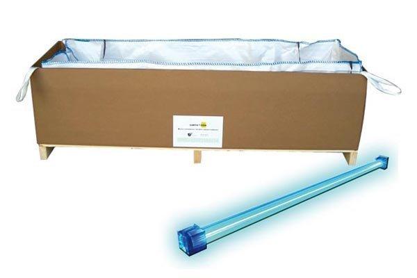 contenitori per tubi fluorescenti