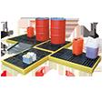 piattaforme di contenimento in polietilene per interni
