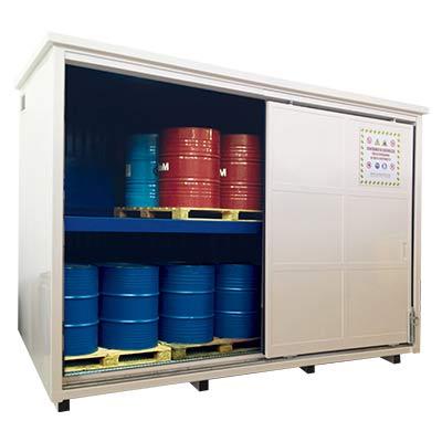 container per stoccaggio fusti