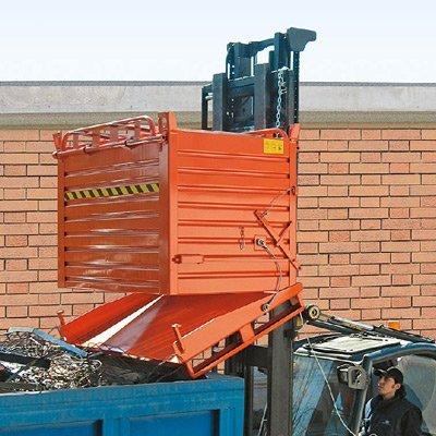 contenitori metallo fondo apribile
