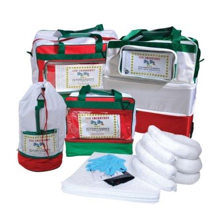 Borse kit pronto intervento antinquinamento assorbimento oli