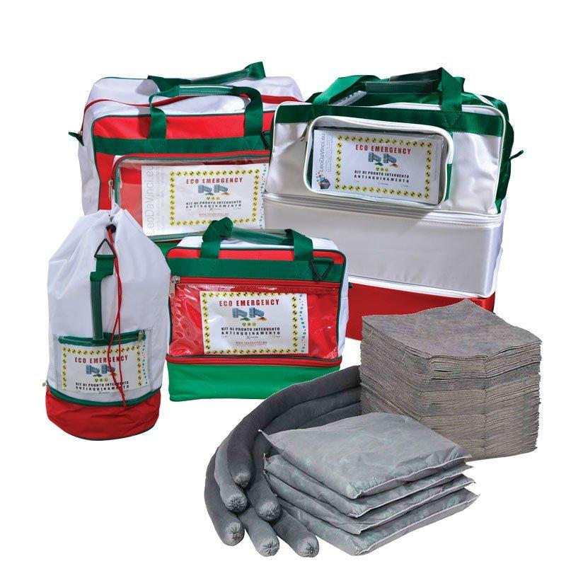 Borse kit pronto intervento antinquinamento per assorbimento universale