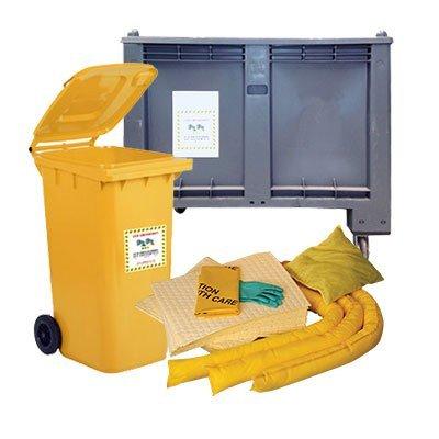 kit assorbenti per chimici in contenitori carrellati