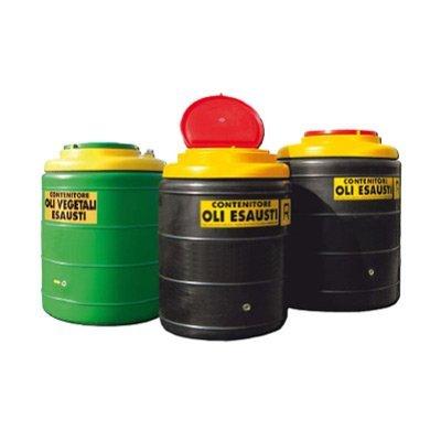 serbatoio in polietilene per stoccaggio olio esausto