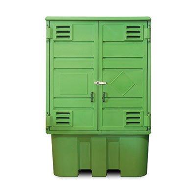 armadio in polietilene per stoccaggio cisternette