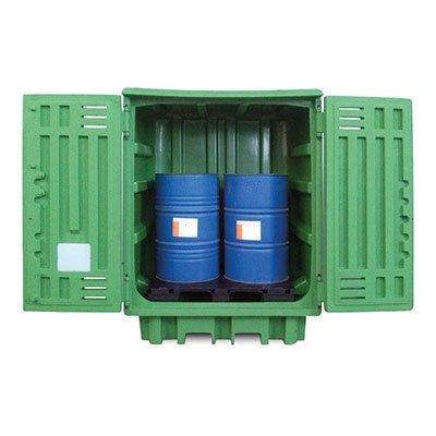 armadio plastica per stoccaggio 2 fusti