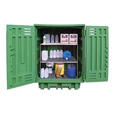 armadio in plastica con 3 ripiani e vasca di raccolta