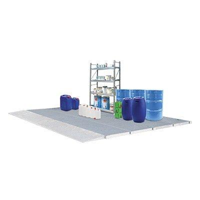 pavimentazione con vasca di raccolta inferiore