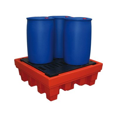 vasche di contenimento in polietilene ad alta resistenza per fusti