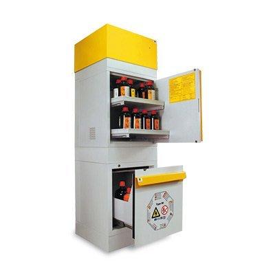 armadio combinato stoccaggio infiammabili e chimici acidi basi
