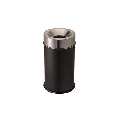 contenitori metallo antifuoco con coperchio acciaio inox satinato