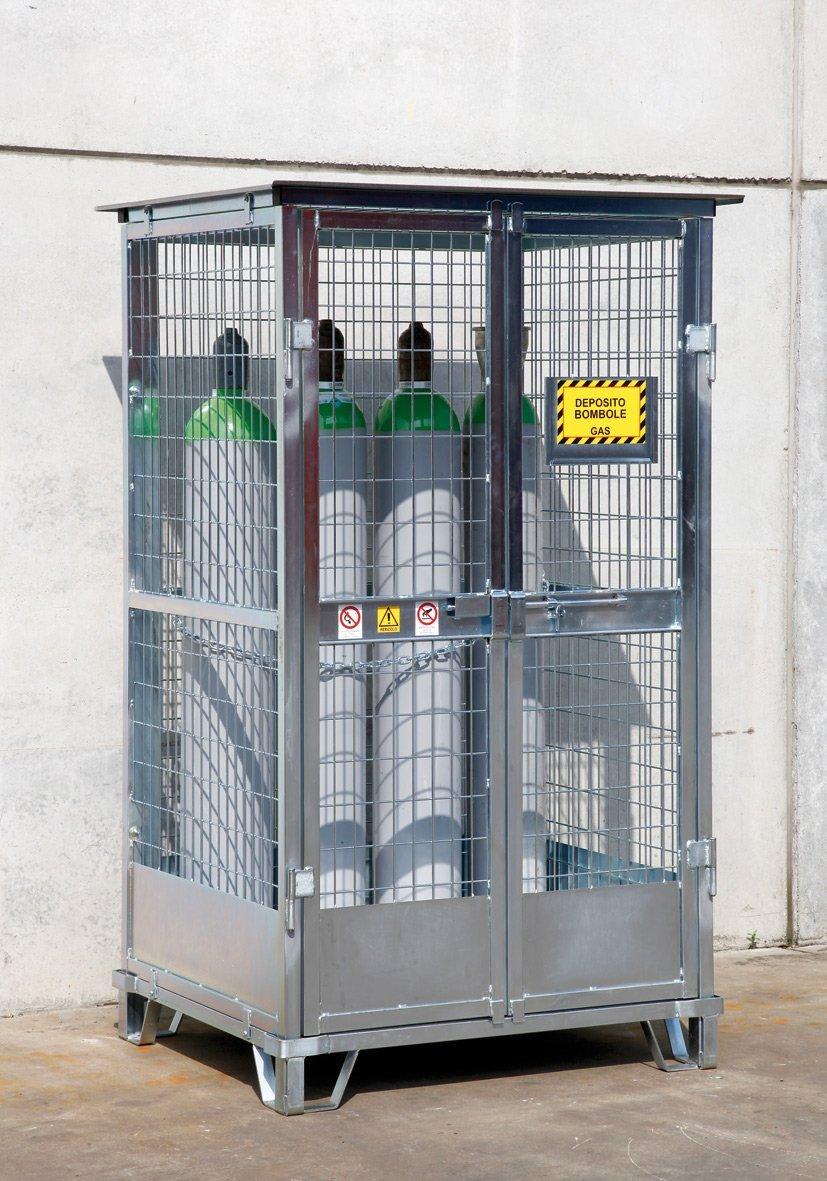 Depositi in acciaio per stoccaggio bombole prodotti for Bombole gas campeggio prezzi