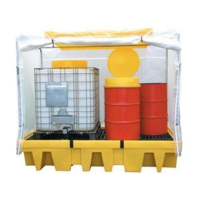 vasche di contenimento in polietilene per esterni con copertura