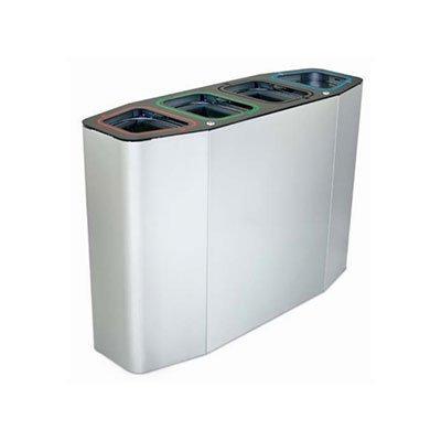 cestino forma ellittica per quattro tipologie di rifiuti