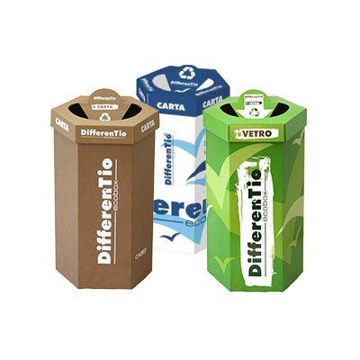 contenitori in cartone per raccolta differenziata