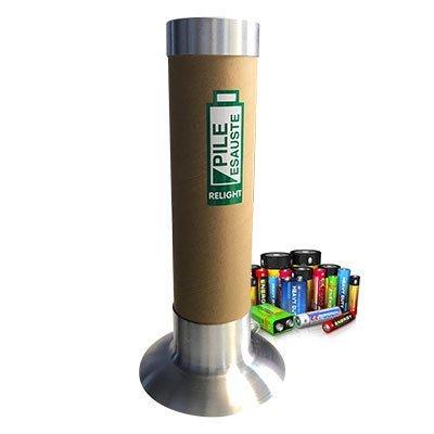contenitore per raccolta pile in cartone
