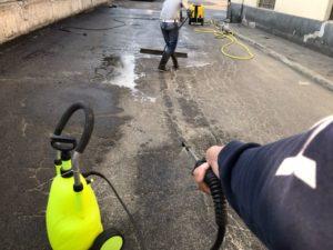 Perdita di gasolio su superficie privata