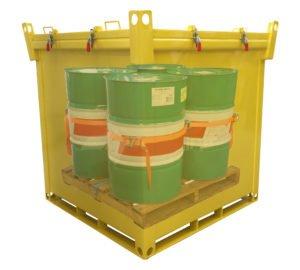 Cassone di sicurezza per bancale fusti trasportate in mare