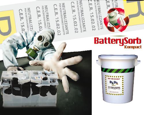 battery sorb kompact neutralizzante per acido batterie