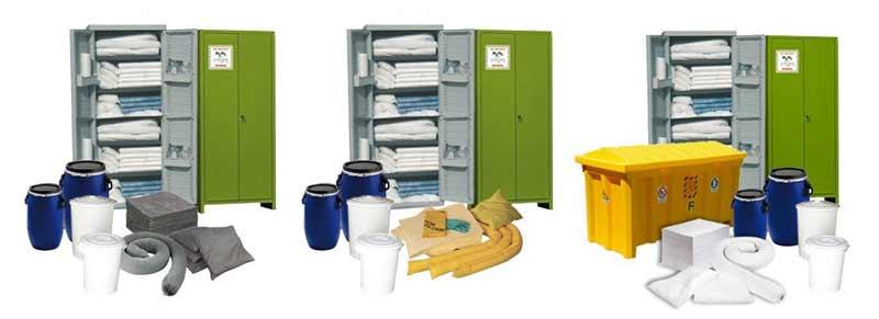 kit di pronto intervento antinquinamento contenitori fissi