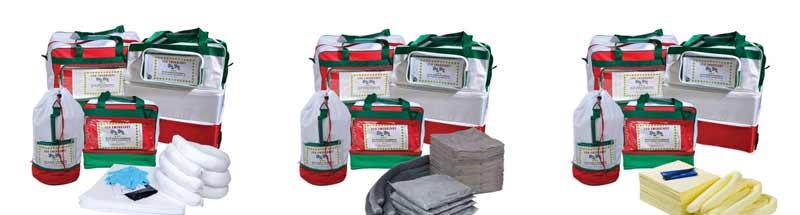 kit di pronto intervento antinquinamento borse portatili