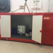 container climatizzati per lo stoccaggio in sicurezza di liquidi e lubrificanti aeronautici speciali