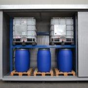 container ei 120 per fusti su pallet e cisternette
