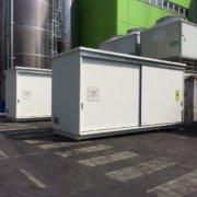 container in batteria per gestione di materie prime pericolose