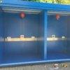 container deposito stoccaggio gas infiammabili con pareti lati e tetto rei 120