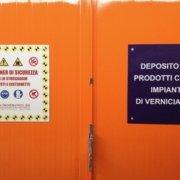 esempio di etichettatura di sicurezza container