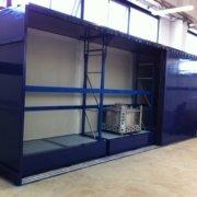 montaggio container al 3° piano di uno stabilimento alimentare