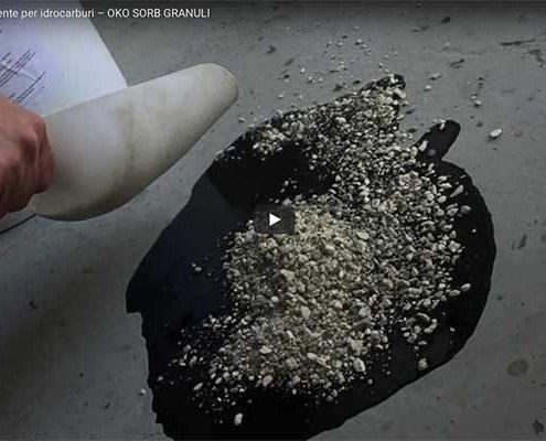 Assorbente per oli oko sorb granuli poliuretano