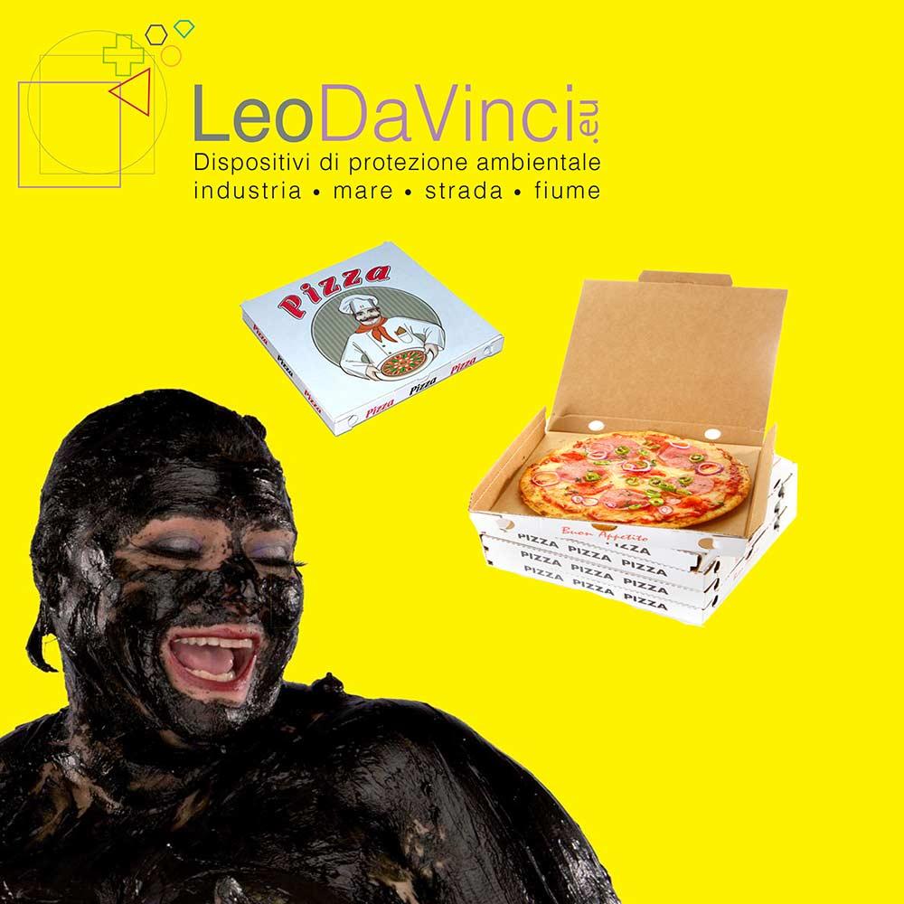 raccolta differenziata cartoni pizza
