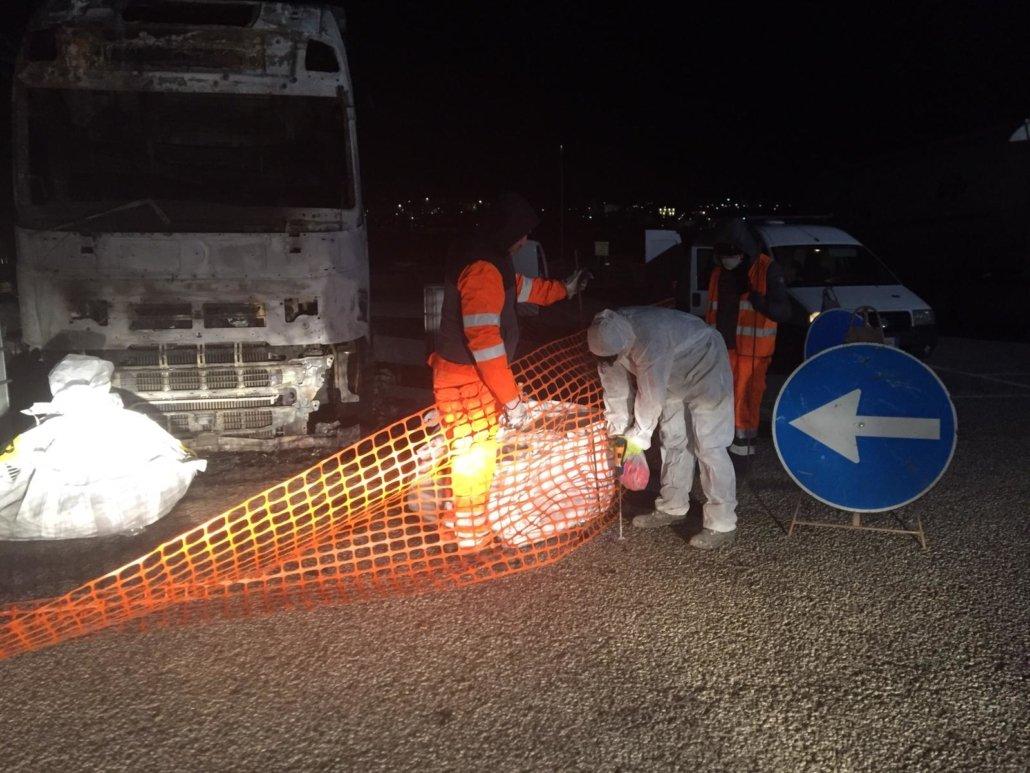 ripristino stradale dopo incidente camion 23