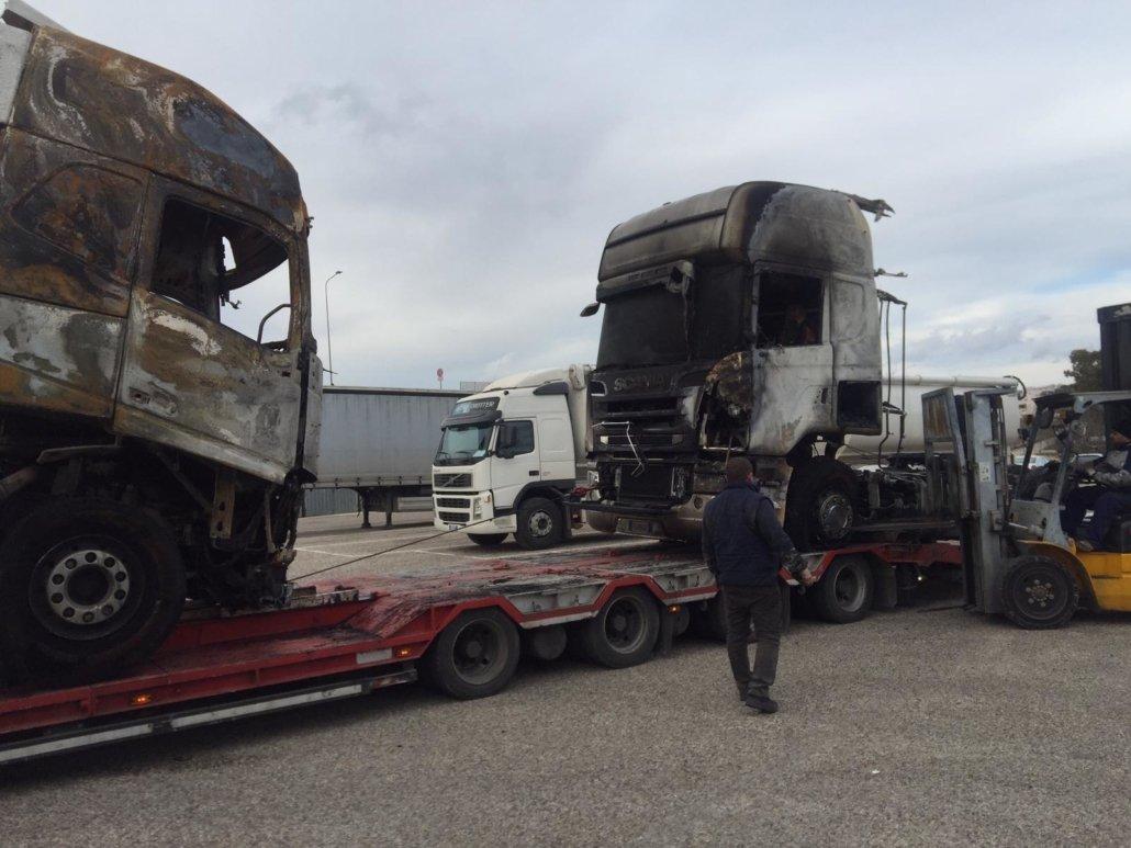 ripristino stradale dopo incidente camion 05