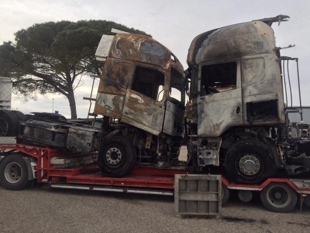 ripristino stradale dopo incidente camion 04