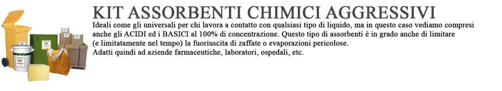 kit antinquinamento prodotti chimici aggressivi testo