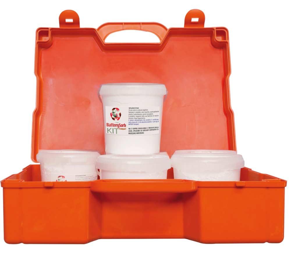 battery kit antinquinamento frontale aperto