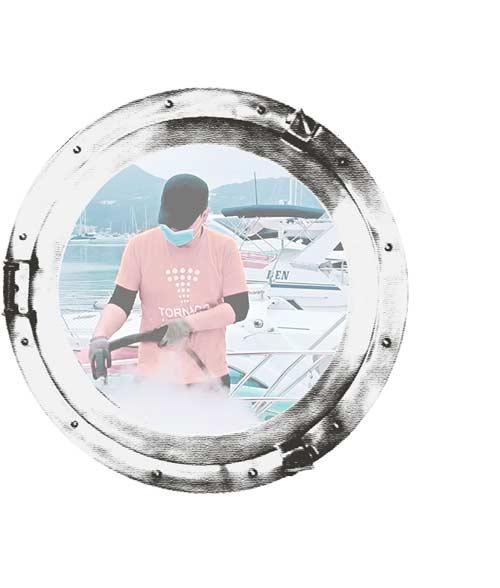 sanificazione esterno barca oblo 1