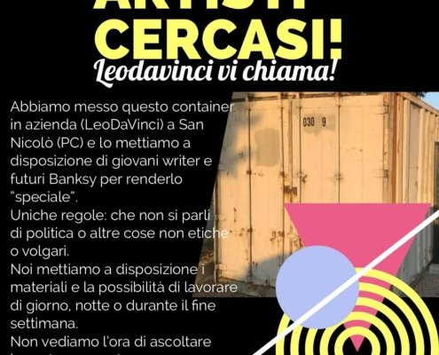 cercasi writer container graffito