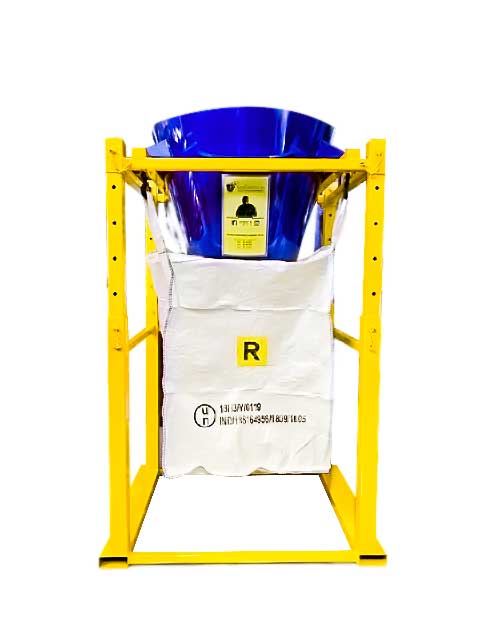 Porta big bag con tramoggia conica regolabili