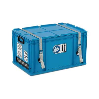 Contenitore di raccolta in alluminio per batterie