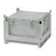 Contenitore in acciaio per batterie litio chiuso