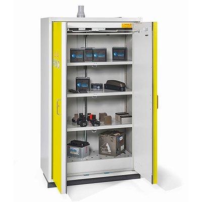 Deposito di sicurezza per batterie litio aperto