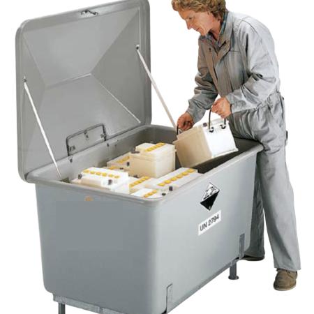 Contenitori di raccolta per batterie per uso esterno