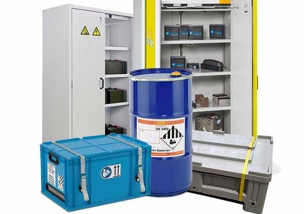 contenitori per stoccaggio e trasporto di batterie al litio
