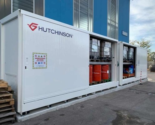 container di sicurezza per oli lubrificanti