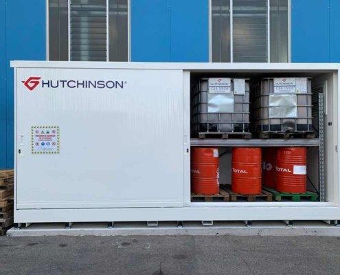 container di sicurezza per oli lubrificanti - vista frontale