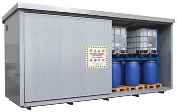 container deposito fusti e cisternette