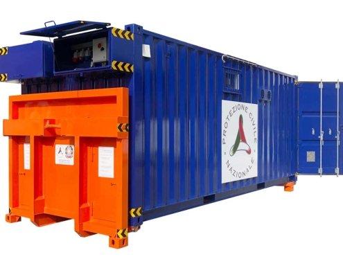 container su misura protezione civile esterno